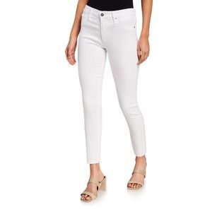 Adriano Goldschmied White Stilt Roll Up Jeans